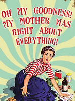 Funny Mothers Day Present Ideas Gift For Women Her Mum Kitchen Picture Plaque