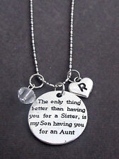 Personalized Aunt Necklace,Aunt Jewelry, Keepsake Momento for Aunt,Gift for Aunt