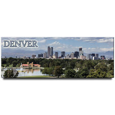 Denver panoramic  fridge magnet Colorado travel suovenir