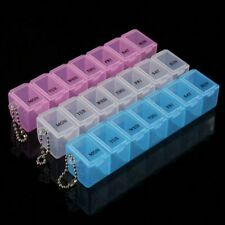 1PCS Plastic Tablet Case Container Organizer Weekly Medicine Pill Storage Box;-