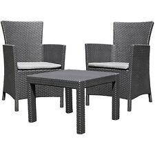 Mobili da giardino tavolo sedie in colore grafite Design moderno CURVER