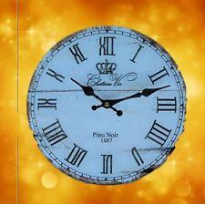Wanduhr Pinu Noir Glass Batt Geschenk antik vintage Ästhetik Rarität Wanddeko