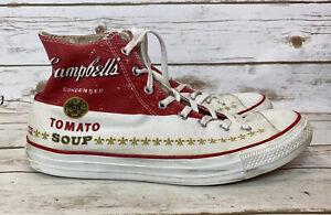 Converse Andy Warhol Campbells Tomato Soup Hi Top Mens 13 Women's 15 Sneakers