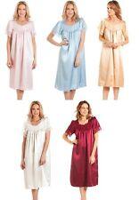 Short sleeved Summer satin & lace nightdress nightwear nightie