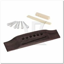 Acoustic Guitar Set White Bone Bridge Pins Saddle Nut Bridge