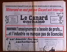 Le Canard Enchaîné 5/09/1984; Enquête sur les avions renifleurs et décrispation