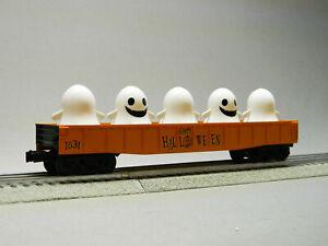 MTH RAIL KING HALLOWEEN GONDOLA LIGHTED FLICKERING GHOST O GAUGE train 30-72191