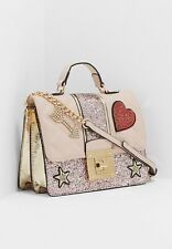 NWT Aldo Triania-55 bedazzled Heart, Arrow & Star Handbag Crossbody Pink