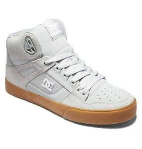 DC SHOES MENS PURE HI TOPS BOOTS.NEW GREY HIGH REAL LEATHER TRAINERS SIZE UK 11
