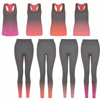 Women Tank Top Vest or Full Length Leggings Gym Yoga Ladies Outfit Size S-XL