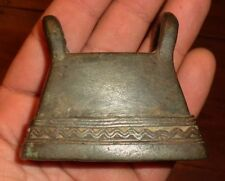 Cloche Vache Bétail Ancien Bronze Birmanie Asie Antique Burmese Cow Buffalo Bell