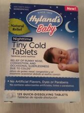125 CT BOTTLE OF HYLAND'S BABY NIGHT TIME TINY COLD TABLETS