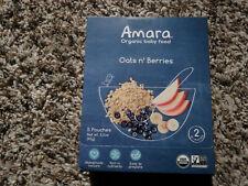 Amara Organic Baby Food Oats n' Berries - 5 Pouches Non-GMO