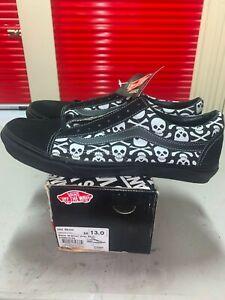 Brand New Old Skool Vans Black / Silver Gray Skull Sneakers Skate Shoes