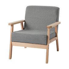1pc Single Armchair Upholstered Relax Armchair in Solid Wood Design Lounge chair