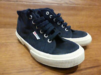 Superga Cotu Mid Top Navy Canvas Casual Trainers Size UK 1  EUR 33