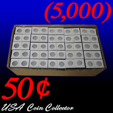 (5000) Half Dollar Size 2x2 Mylar Cardboard Coin Flip for Storage | 50 Cent Bulk
