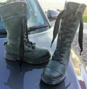 Dr Martens 1914 Triumph dark mirage broadway plaid leather boots UK 5 EU 38
