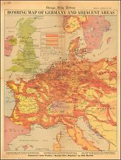 Bombing Map of Germany and Adjacent Areas WW2 1943 pictorial map POSTER 0111