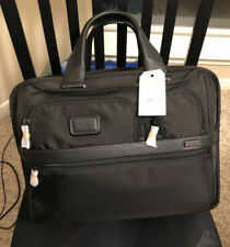 NWT Tumi Black Alpha 2 Expandable Laptop BriefBag 026141D2U FREE SHIP MSRP $455