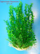 """PLASTIC FLEX PLANT HEAVY BASE 47302 AQUARIUM DECORATION Approx. 8""""L x 12""""H"""