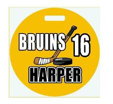 """Personalized HOCKEY BAG TAG 4"""" Round Sports Duffle Bags Backpacks LUGGAGE TAG"""