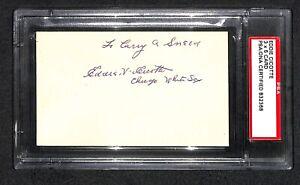 EDDIE CICOTTE SIGNED AUTOGRAPHED SIGNATURE EIGHT MEN OUT 1919 BLACK SOX PSA/DNA