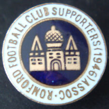 ROMFORD FC Vintage 1946 SUPPORTERS ASSOCIATION Badge Maker W.O LEWIS B'ham