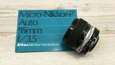 Nikon Micro-Nikkor-P Auto 55mm f3.5 lens F mount