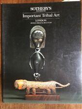 Sotheby's Catalogue Tribal Art London 1986