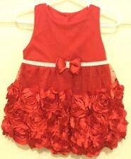 Nannette Baby 18 Month Red Sleeveless Ruffled Dress