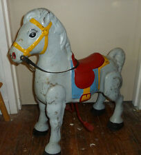 "Vintage MOBO HORSE,Old Toy Animal,Antique Metal Child Use,A.30"" high x 27"" long"