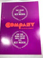 "Vintage ""Company A Musical Comedy"" Souvenir Program 1970's"