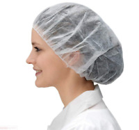 Disposable Bouffant Caps, Spun-bounded Poly, Hair Head Cover Net 21in. (100pcs)