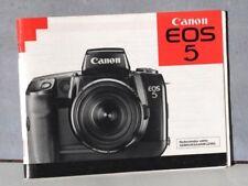 Canon EOS 5 gebruiksaanwijzing . NL versie