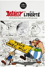 Pièce 10 euros argent sous cartelette - Astérix - Liberté Manifestation - 2015