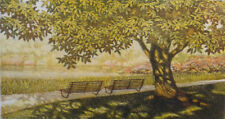 """Carl March. Framed limited edition 53/150 etching of a tree """"Parco di Monza"""""""