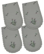 Pack 4 Scottish Thistle Chair Backs Covers Protectors Seat Antimacassar C804