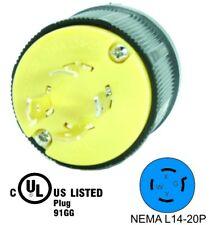 NEMA L14-20P 20A 125/250V Locking Male Receptacle Plug Industrial Grade 4Prong