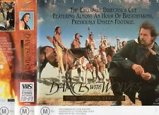 DANCES WITH WOLVES - 2 x VHS - PAL - NEW - Never played! - Original Oz release