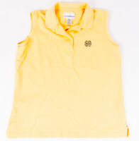 Cutter and Buck Ladies Sleeveless Polo Norte Dame Logo Yellow Size S/P