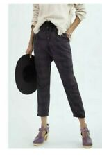 Anthropologie Jacquie Button-Fly Plum Joggers NWT $118.00 Size S pants relaxed