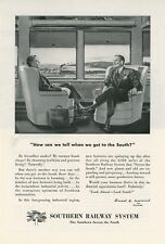 1947 Southern Railway Ad South is Warm Greetings & Booming Business Railroad