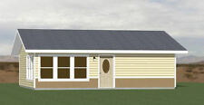 30x26 House -- 1 Bedroom 1 Bath -- 780 sq ft -- PDF Floor Plan -- Model 1E