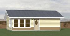 30x26 House -- 1 Bedroom 1 Bath -- 780 sq ft -- PDF Floor Plan -- Model 1E