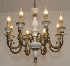 Florentiner Decken Lampe 70er Kronleuchter Toleware Chandelier Led Light 8 fl.