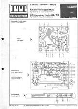 ITT/Schaub Service Schaltplan für hifi stereo recorder 87 /SK