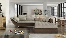 Stoff L-Form Couch Wohnlandschaft Ecksofa Garnitur Modern Design Sofa Rollo