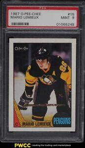 1987 O-Pee-Chee Hockey Mario Lemieux #15 PSA 9 MINT