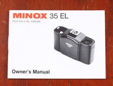 Minox 35 El Camera Owners Manual/130819